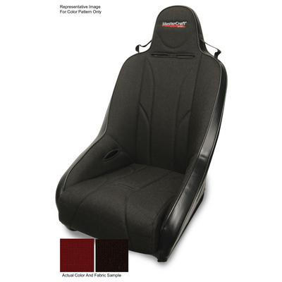 MasterCraft Safety 1 Inch WIDER PRO Seat with Fixed Headrest (Black/ Red) - 561112