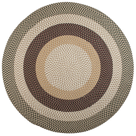 Colonial Mills Plymouth Reversible Braided Indoor/Outdoor Round Rug, One Size , Green
