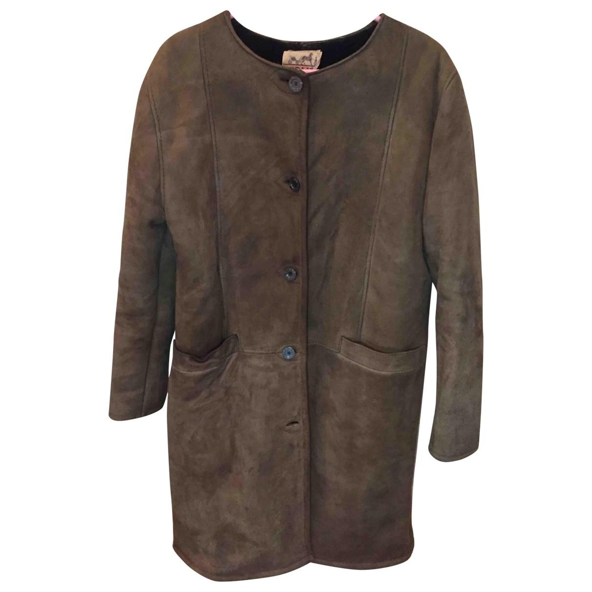 Hermès \N Green Shearling coat for Women 44 IT