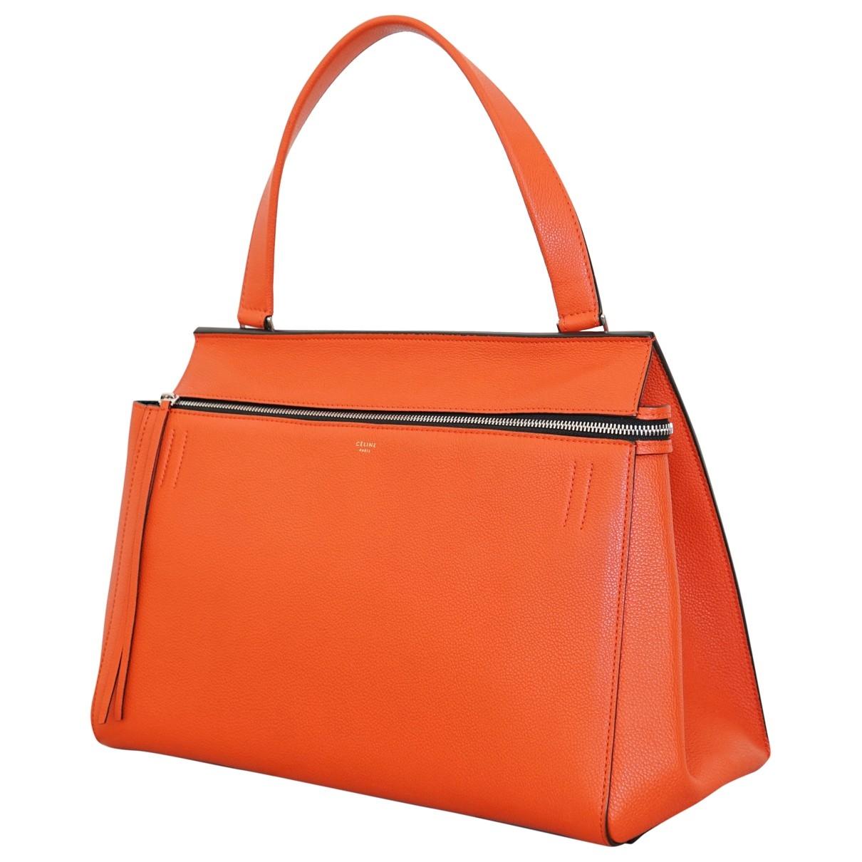 Celine - Sac a main Edge pour femme en cuir - orange