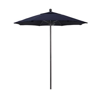 ALTO758117-5439 7.5' Venture Series Commercial Patio Umbrella With Bronze Aluminum Pole Fiberglass Ribs Push Lift With Sunbrella 1A Navy