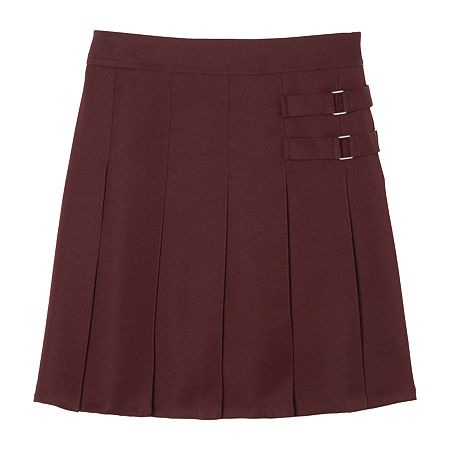 French Toast Little & Big Girls Adjustable Waist Scooter Skirt, 20.5 Plus , Red