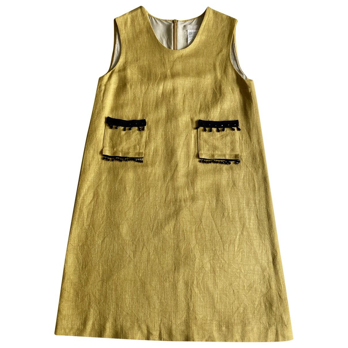 Max Mara s \N Kleid in  Gelb Leinen