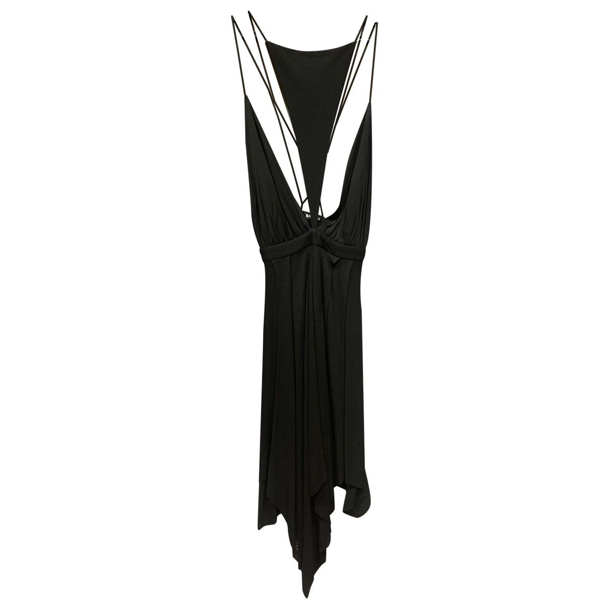 Balmain \N Kleid in  Schwarz Viskose