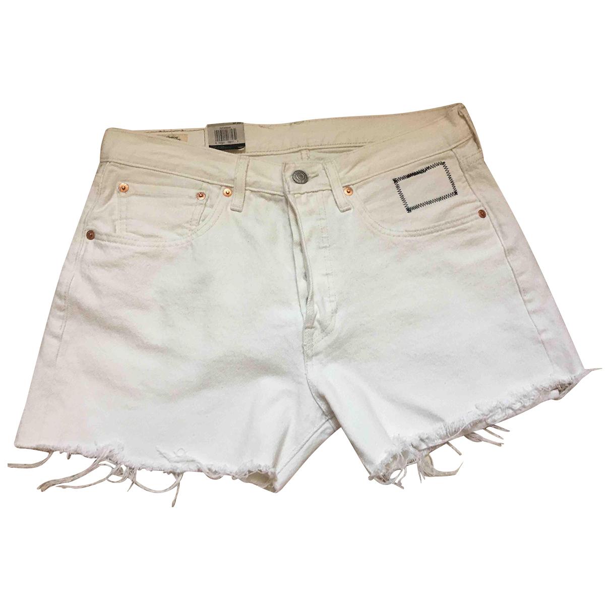 Levi's \N White Denim - Jeans Shorts for Women M International