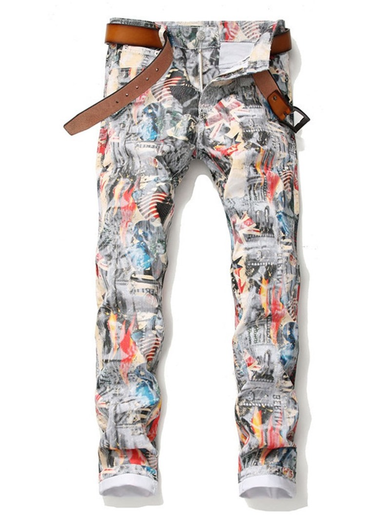 Ericdress Printed Style European Men's Casual Pants