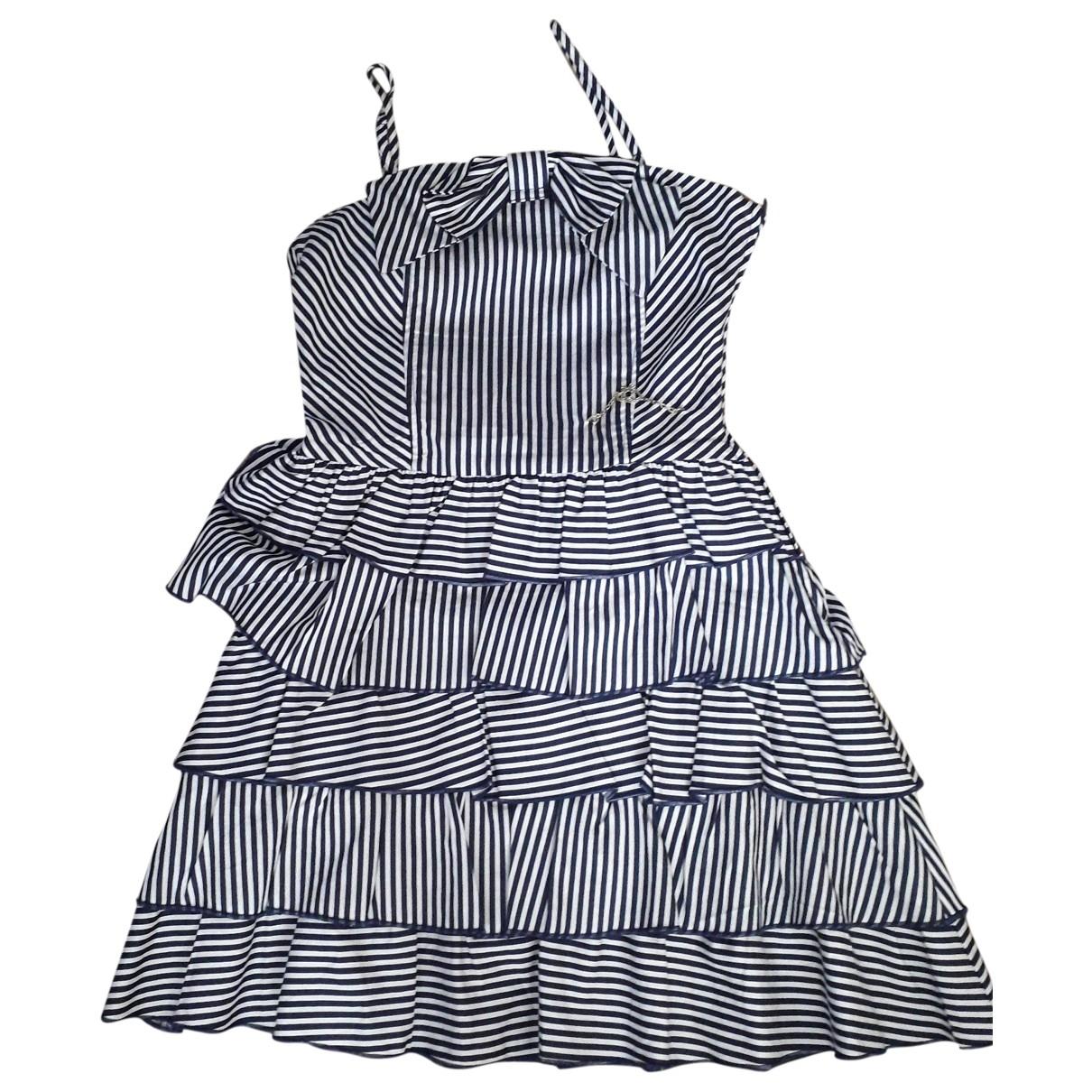 - Robe    pour enfant en coton - bleu