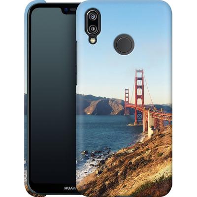 Huawei P20 Lite Smartphone Huelle - Golden Gate Galore von Omid Scheybani