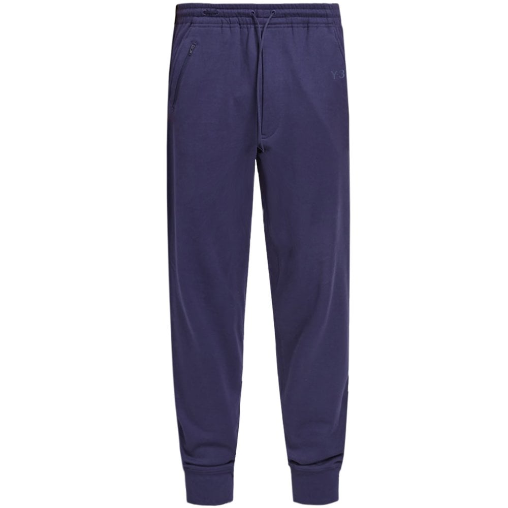 Y-3 Classic Logo Cuff Pants Blue Colour: YOHJI BLUE, Size: LARGE