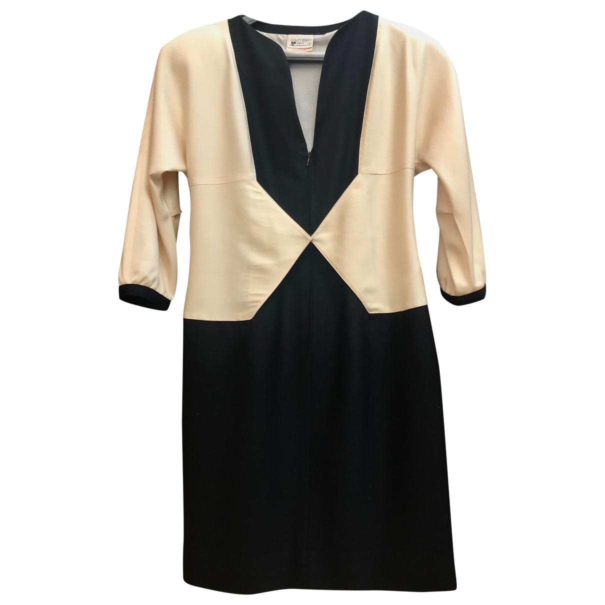 Courreges \N Kleid in  Schwarz Wolle