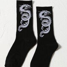 Socken mit chinesischem Drache Muster