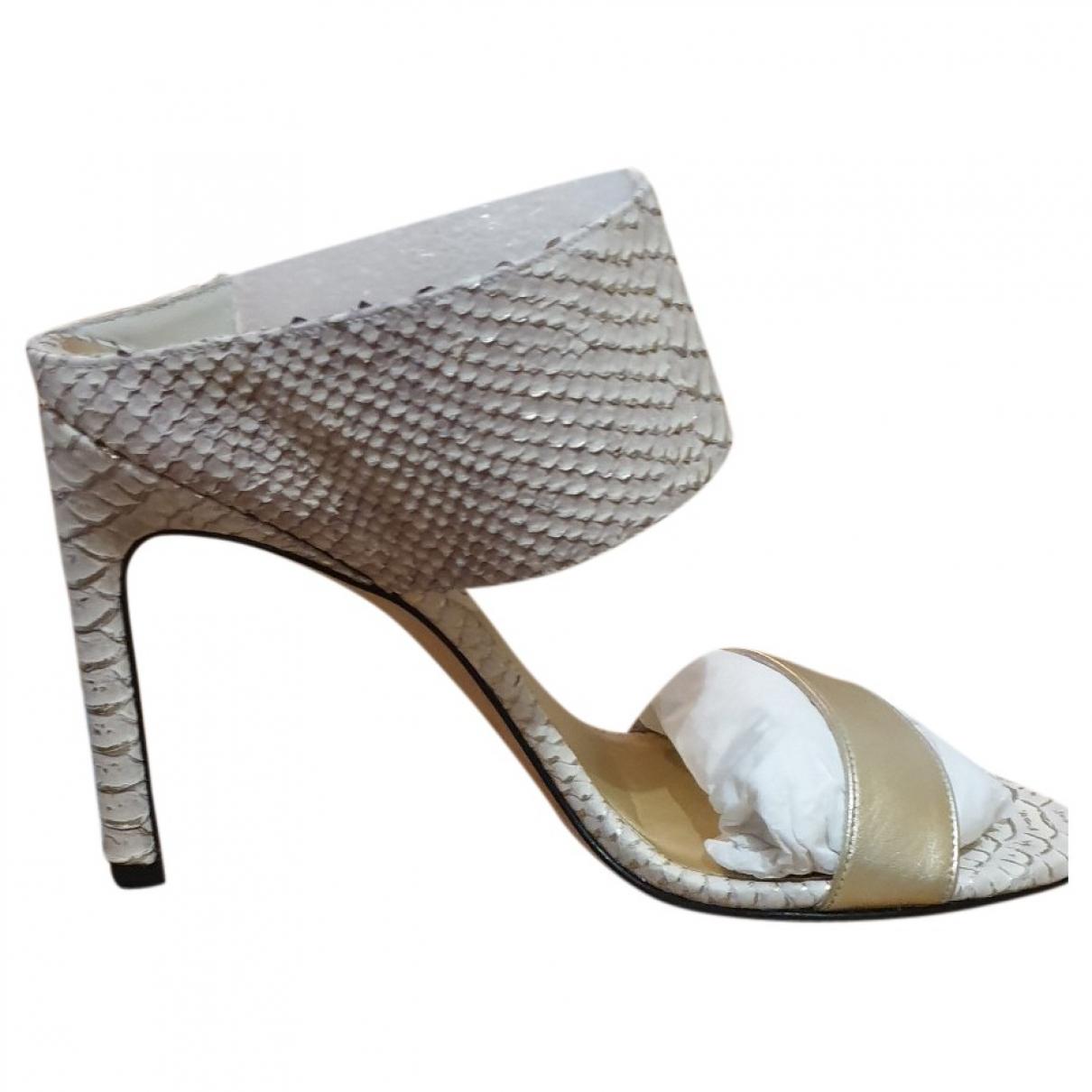 Stuart Weitzman - Sandales   pour femme en cuir exotique - beige