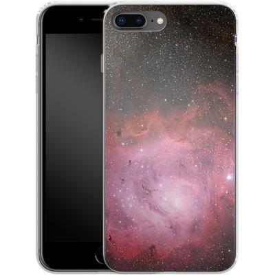 Apple iPhone 8 Plus Silikon Handyhuelle - Pink Nebula von caseable Designs