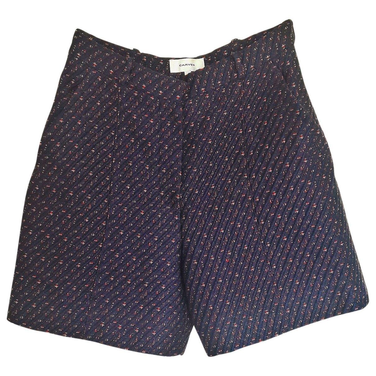 Carven \N Purple Shorts for Women 40 FR