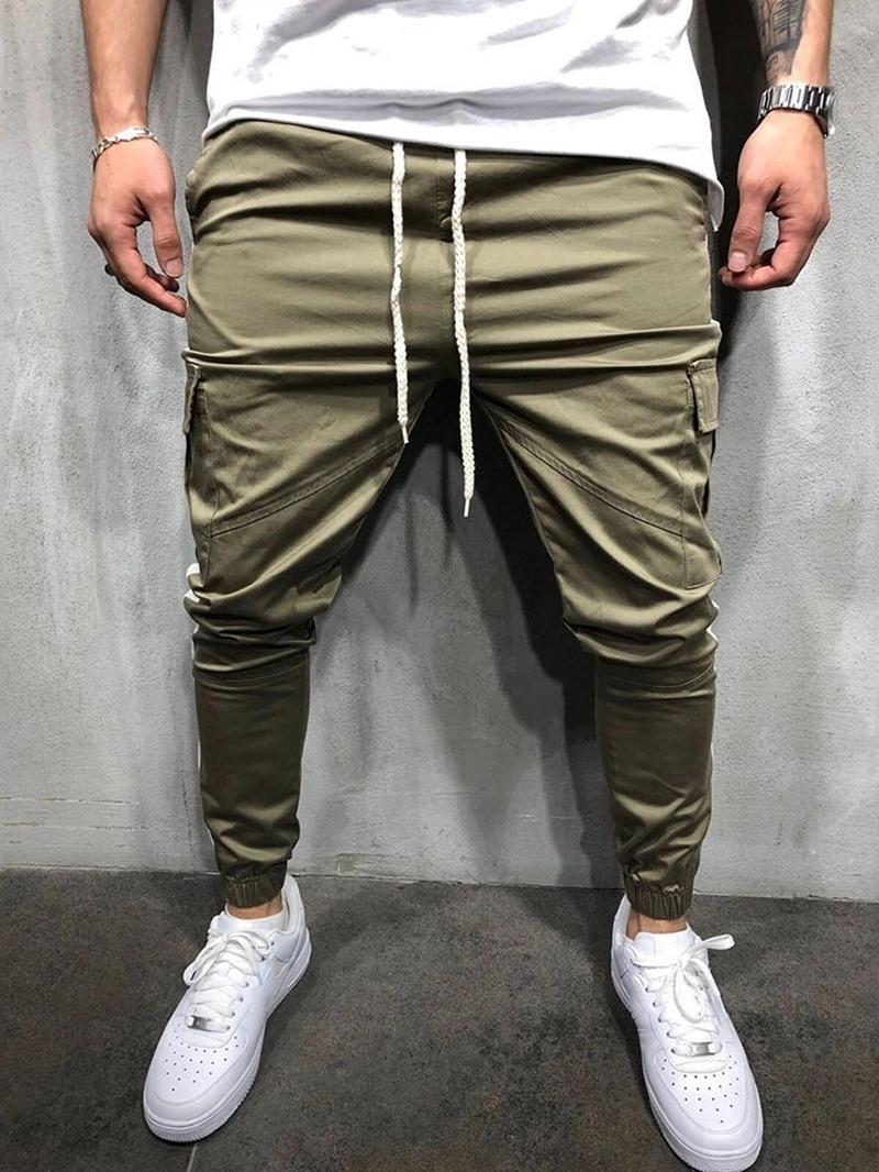Ericdress Color Block Patchwork Baggy European Men's Casual Pants