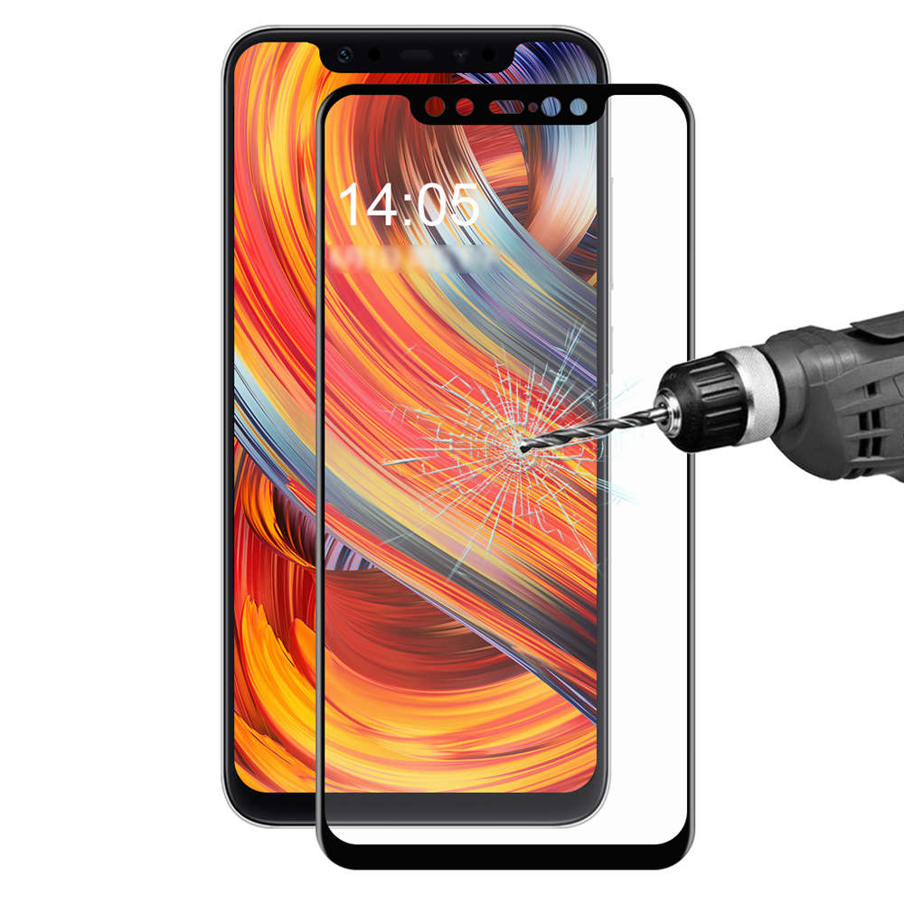Xiaomi Mi 8 Tempered Glass Film Screen Protector 0.2mm 3D Curved Explosion-proof Membrane - Black