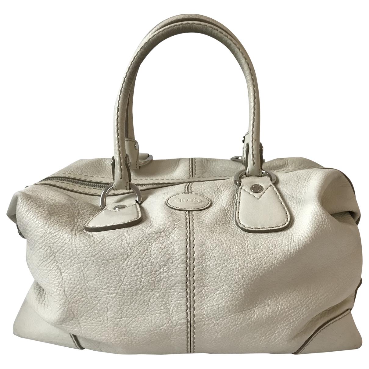 Tods \N White Leather handbag for Women \N