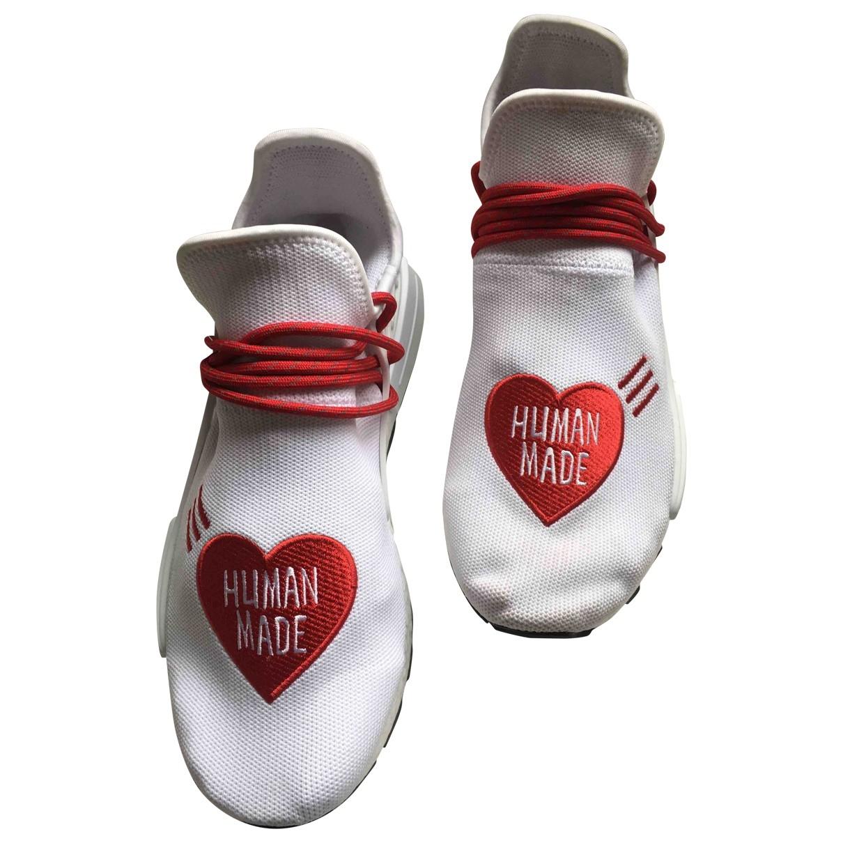 Adidas X Pharrell Williams - Baskets NMD Hu pour homme en toile - blanc