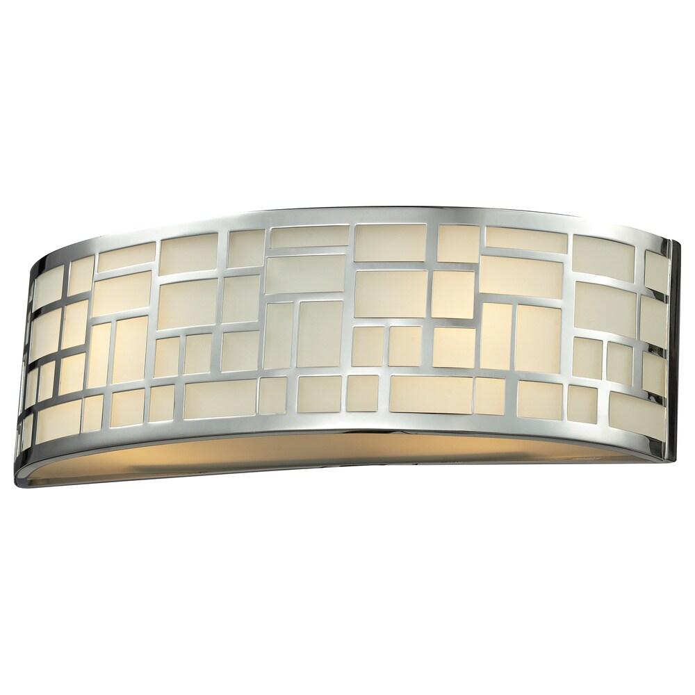 Avery Home Lighting Elea 2-light Chrome/ Matte Opal Glass Vanity Fixture (Chrome)