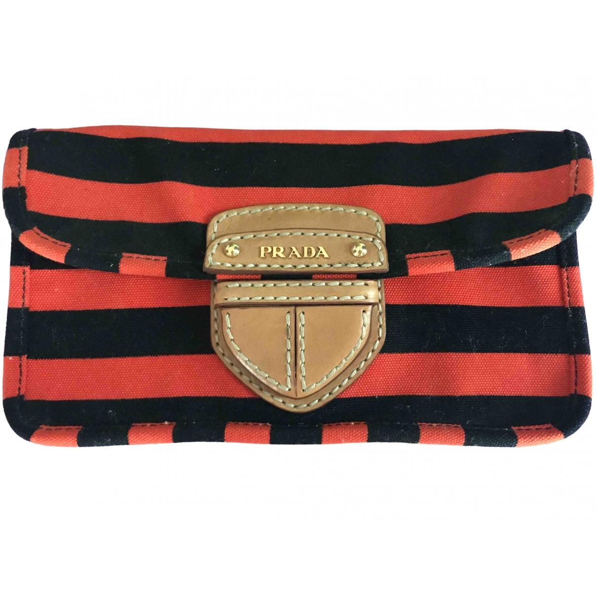 Prada \N Orange Cloth Clutch bag for Women \N