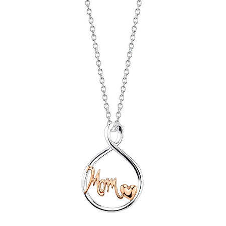 Footnotes Sterling Silver 24 Inch Cable Round Pendant Necklace, One Size , No Color Family