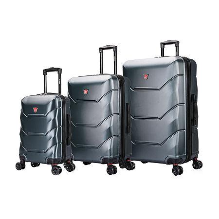 DUKAP Zonix Hardside 3-Pc Luggage Set, One Size , Green