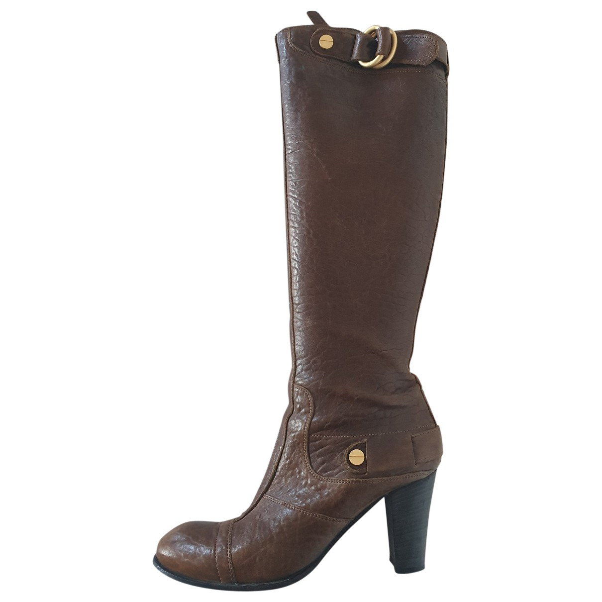 Hugo Boss \N Brown Leather Boots for Women 37 EU