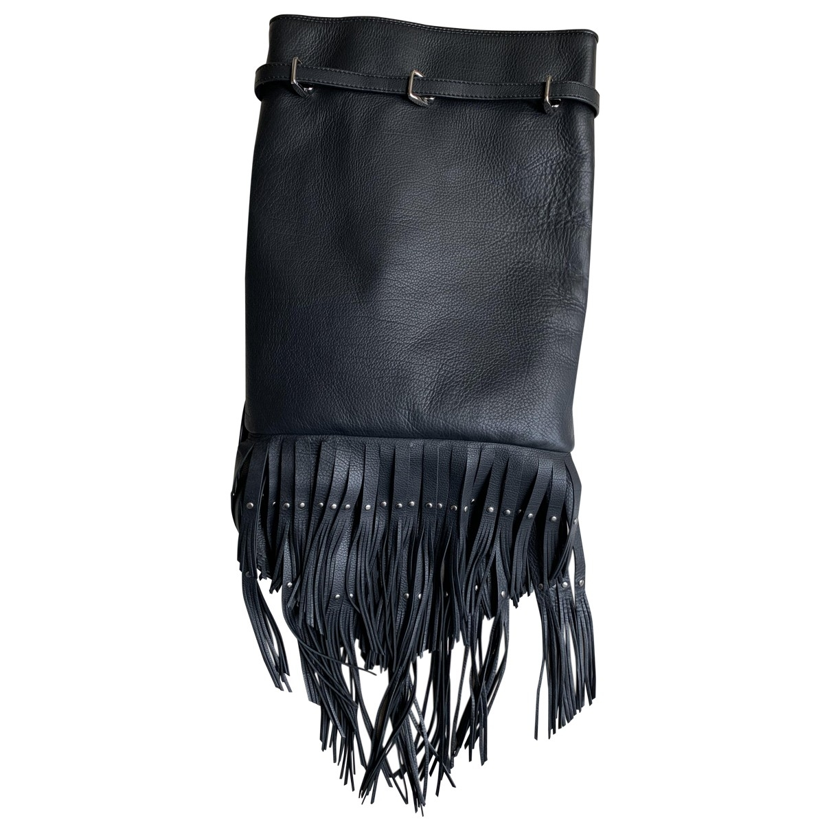 Roberto Cavalli \N Black Leather backpack for Women \N