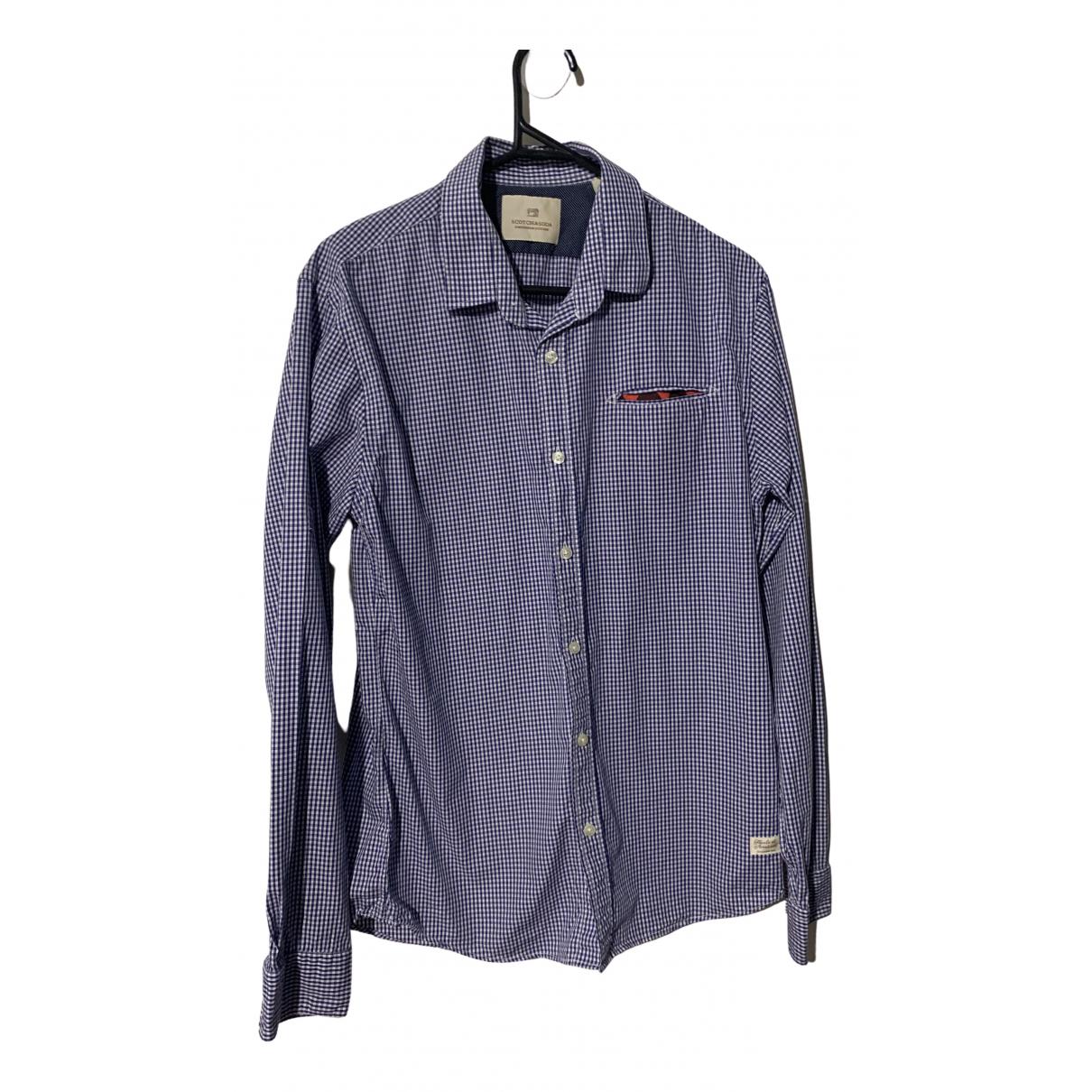 Scotch & Soda \N Blue Cotton Shirts for Men M International
