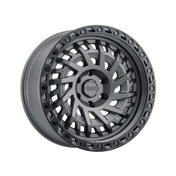 Black Rhino Shredder 20x9.5 5x127 -18  Matte Gunmetal w/Black Lip Edge