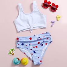 Bañador bikini con estampado de estrella