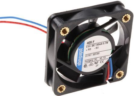 ebm-papst , 5 V dc, DC Axial Fan, 40 x 40 x 10mm, 8m³/h, 700mW