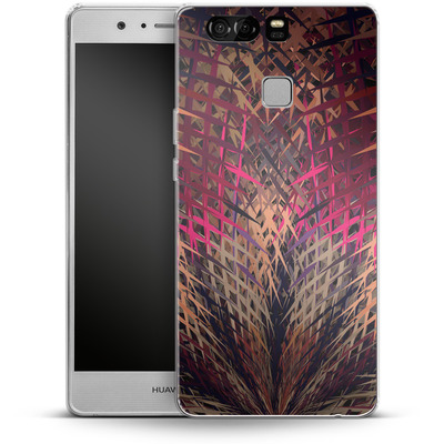 Huawei P9 Silikon Handyhuelle - Grid Explosion von Danny Ivan