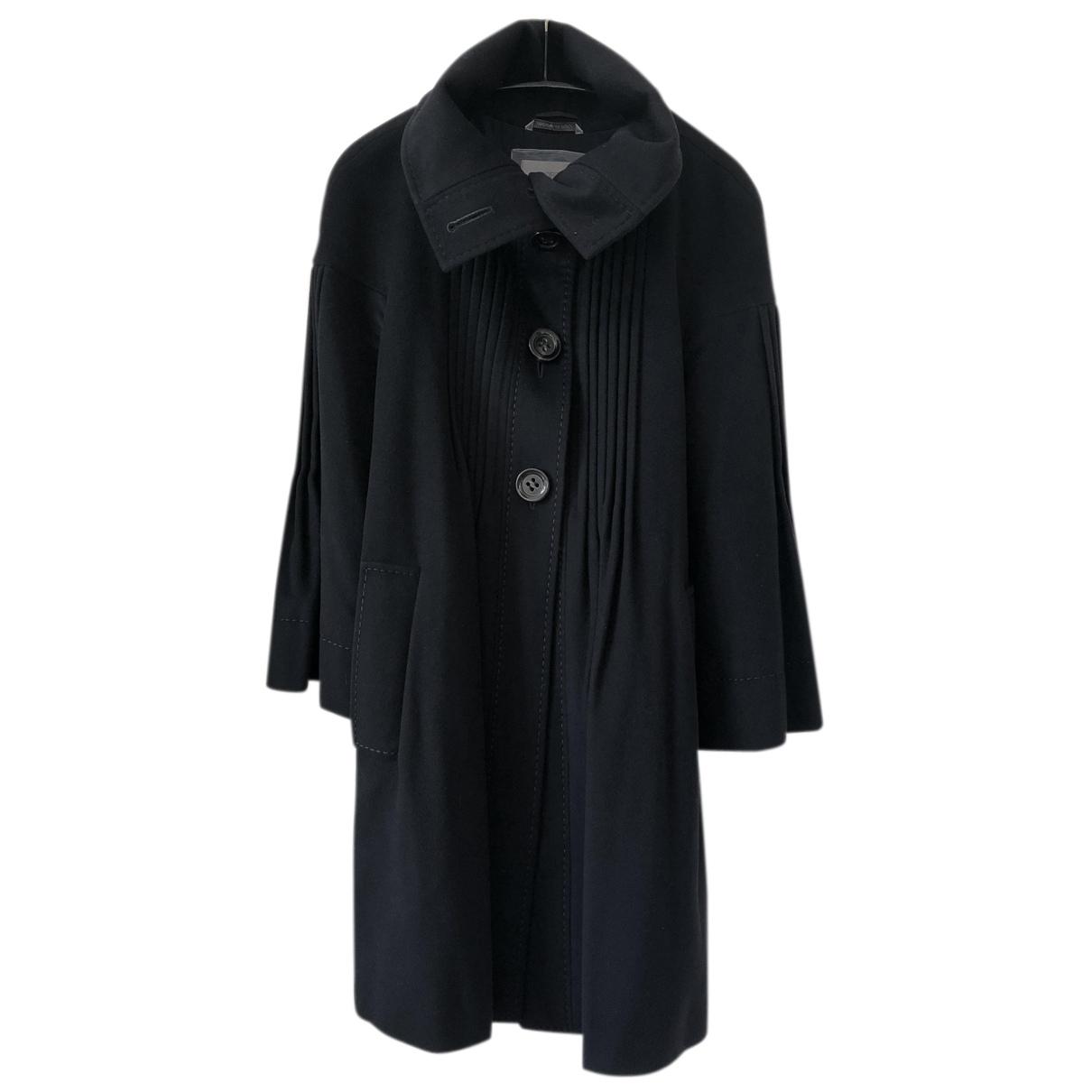 Sport Max - Manteau   pour femme en laine - marine