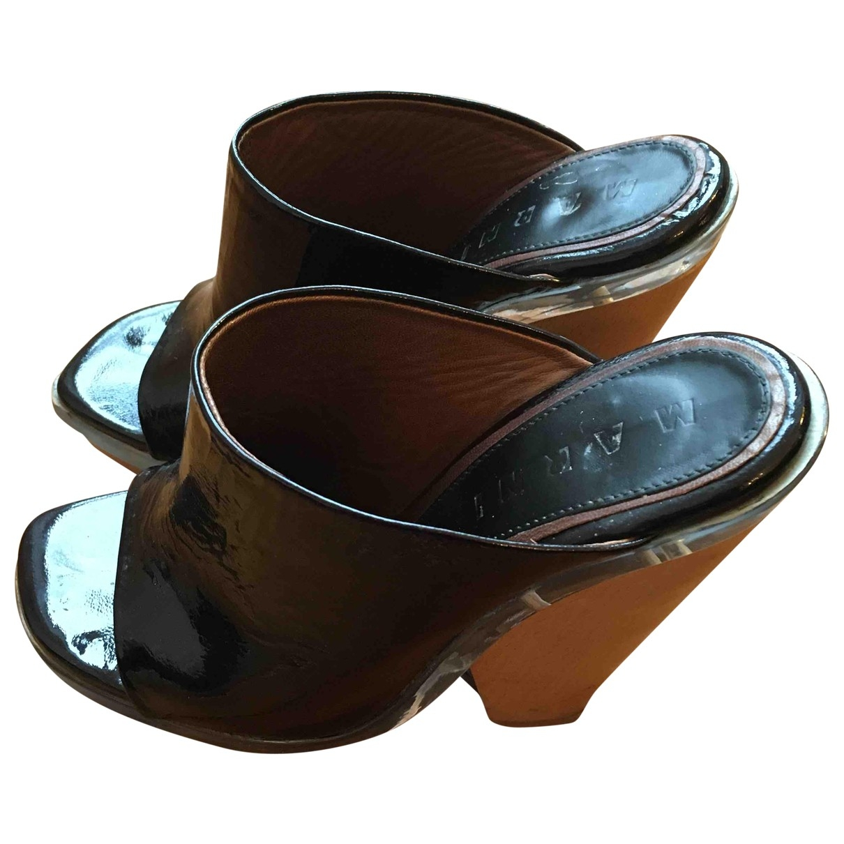 Marni \N Black Patent leather Sandals for Women 35 EU