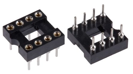 Winslow 2.54mm Pitch Vertical 8 Way, Through Hole Turned Pin Open Frame IC Dip Socket, 5A (5)