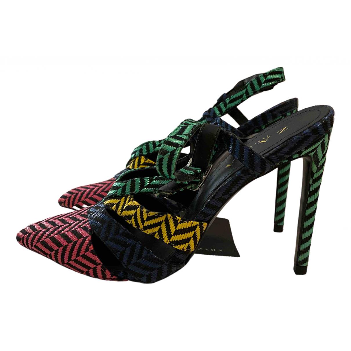Zara \N Sandalen in  Bunt Leder