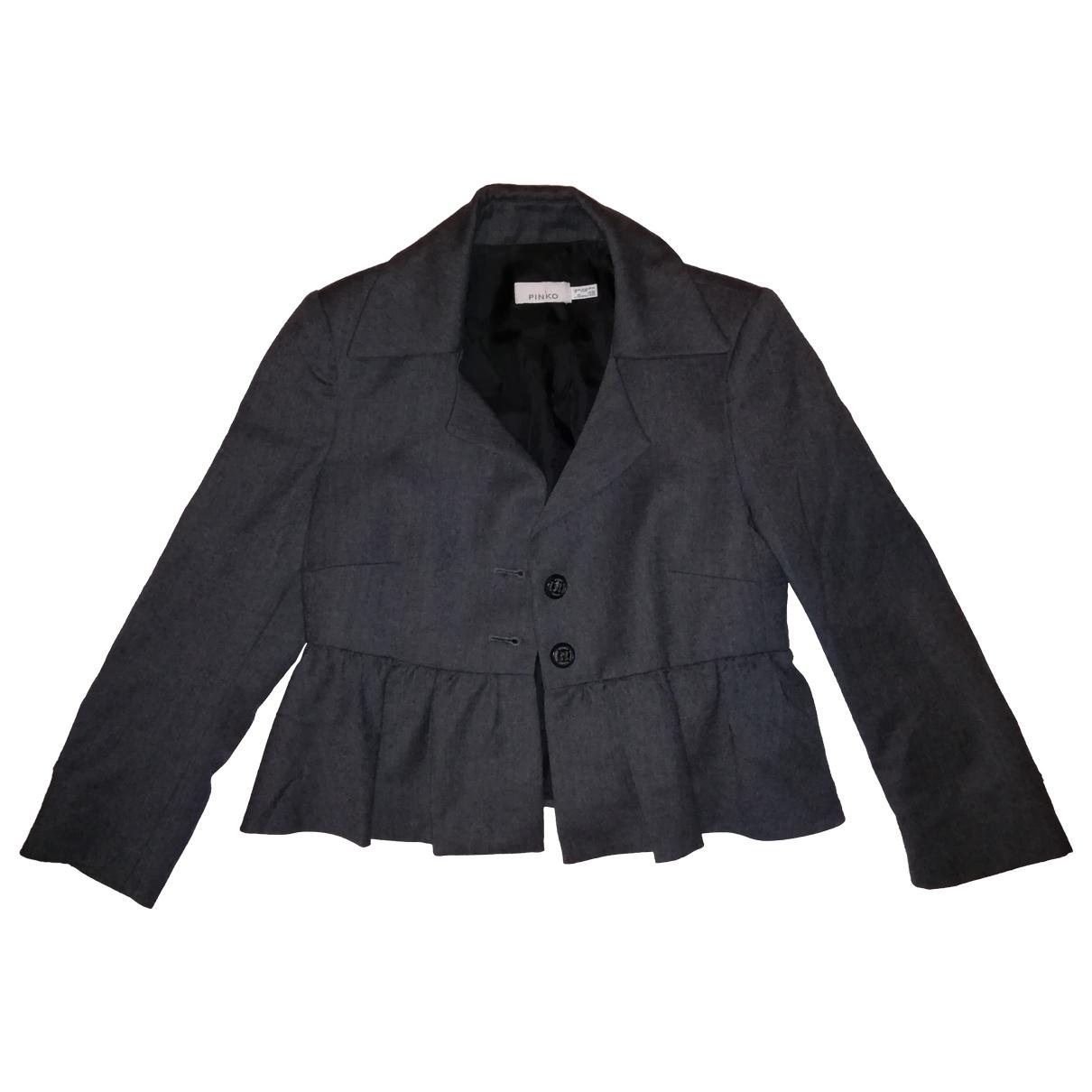 Pinko \N Grey Wool jacket for Women 40 IT