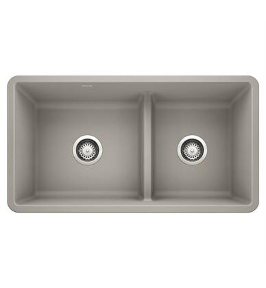 Precis 442737 Reversible Undermount Sink Bowl with Low Divide  in Concrete