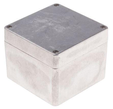 RS PRO Unpainted Die Cast Aluminium Enclosure, IP66, 100 x 100 x 81mm