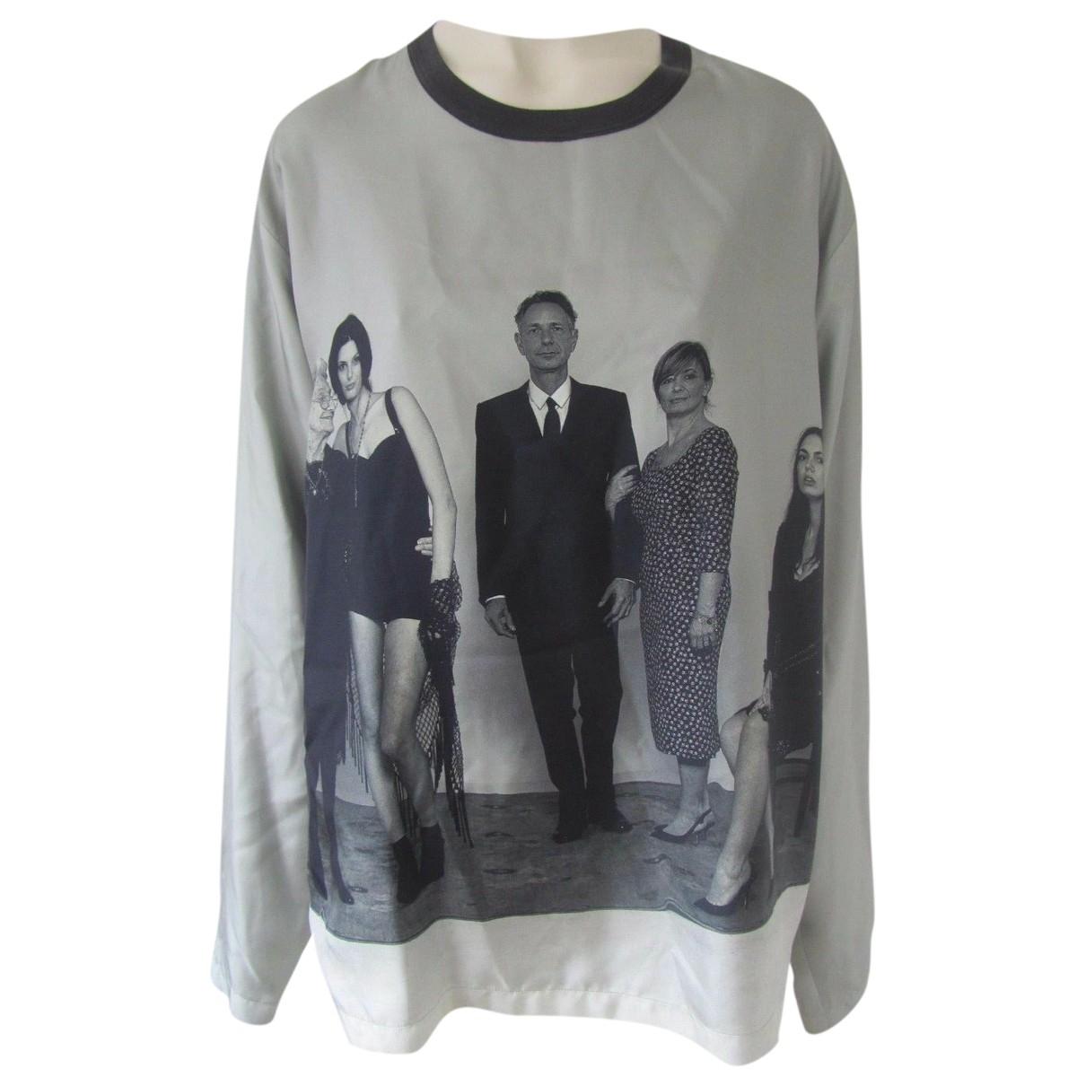 Dolce & Gabbana \N Pullover.Westen.Sweatshirts  in  Grau Seide