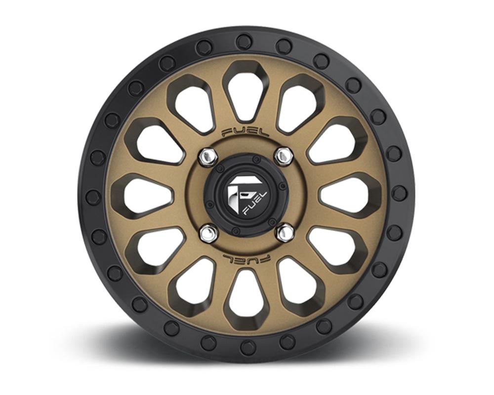 Fuel UTV D600 Vector Bronze w/ Black Ring 1-Piece Cast Wheel 15x7 4x156 13mm