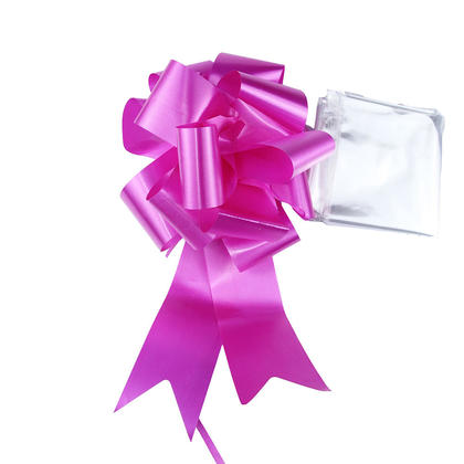 Clear Bag 30*30in, Large Cellophane Wrap for Baskets and Gift, with Pull Bow, Purple - LIVINGbasics™