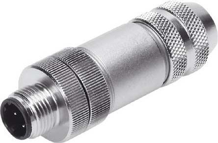 Festo NECU M12 4 Pin D-coded Plug