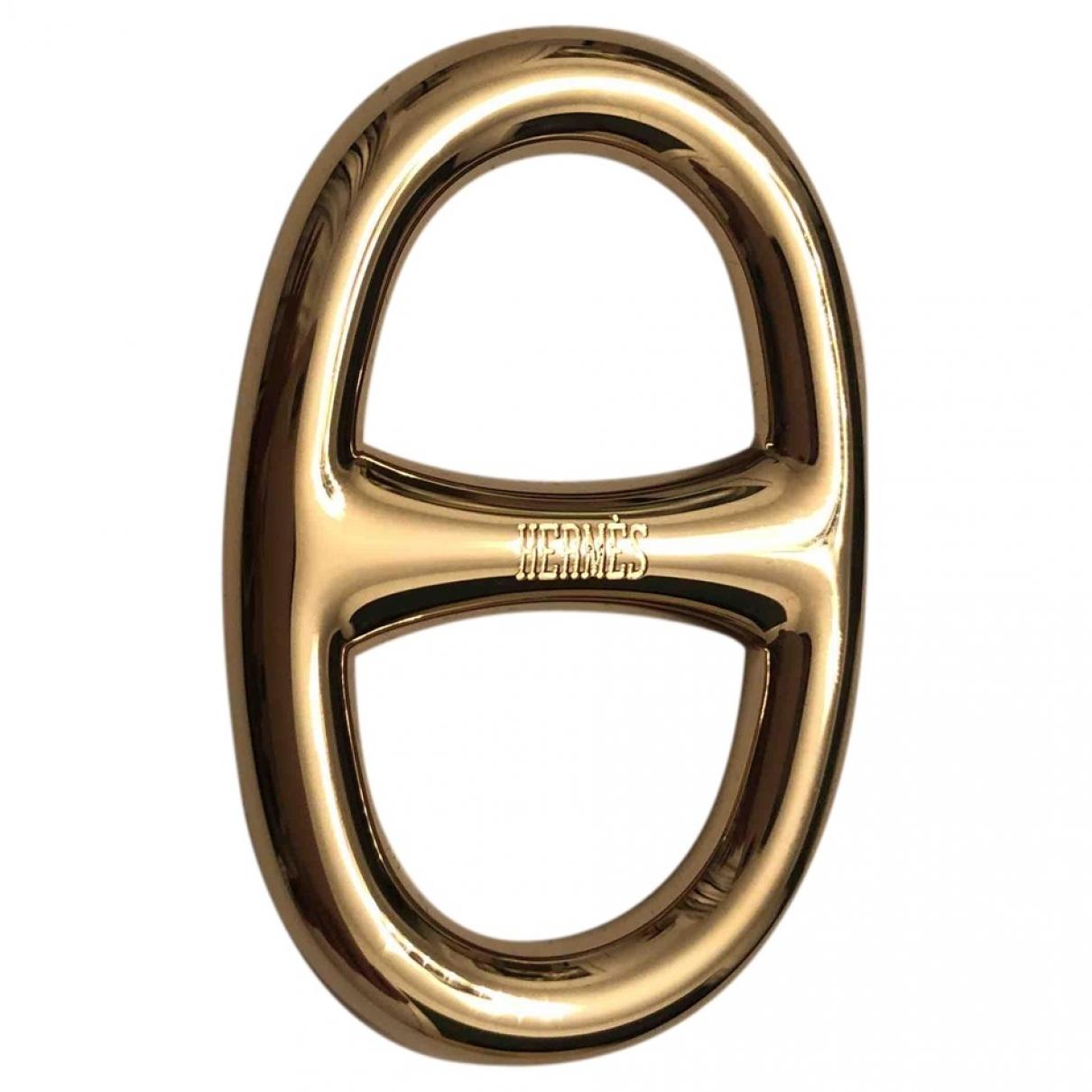 Hermes - Bijoux de sac Chaine dAncre pour femme en metal - dore