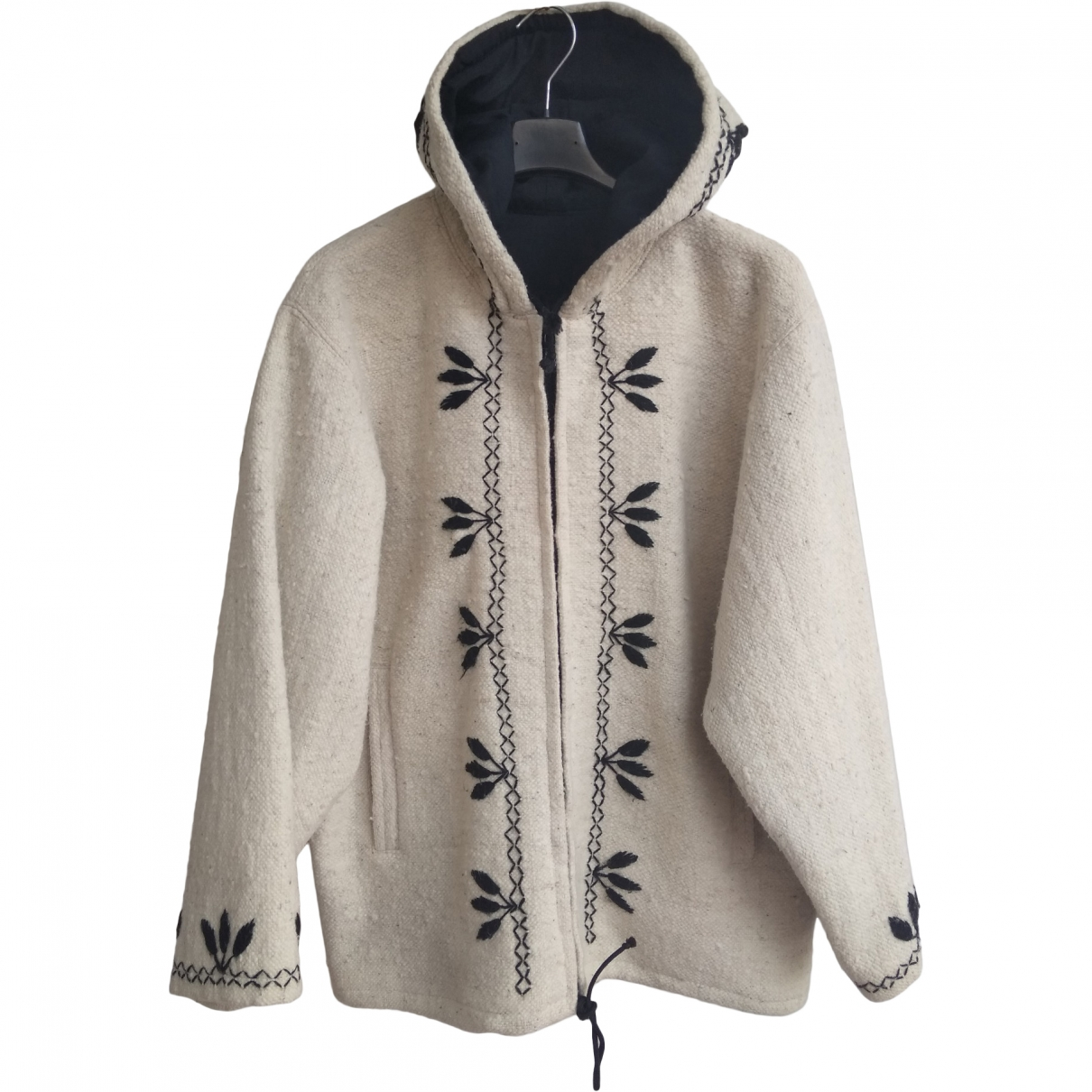 Non Signé / Unsigned \N White Wool jacket for Women M International