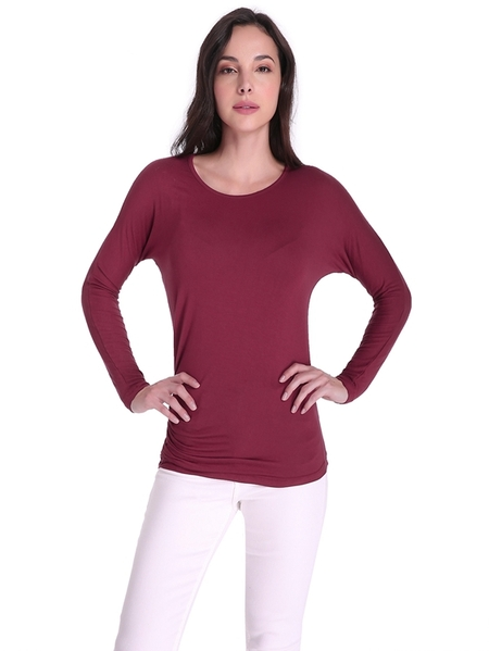 Yoins Auxo Casual Round Neck Long Sleeves Tee