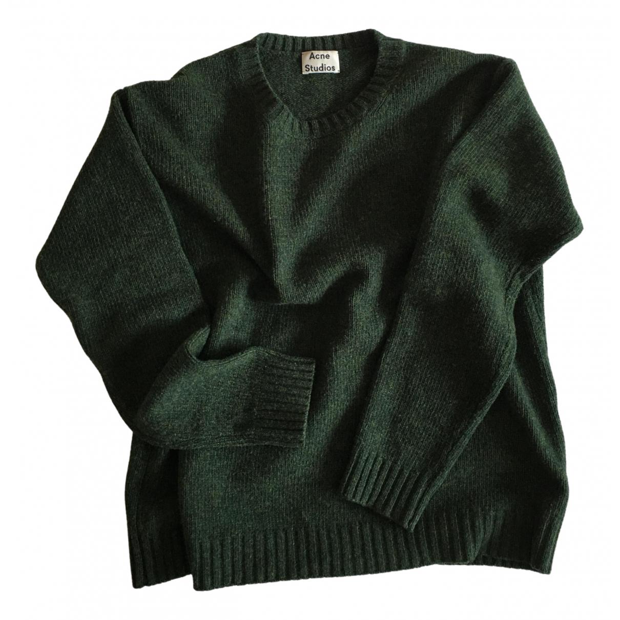Acne Studios - Pull   pour femme en laine - vert