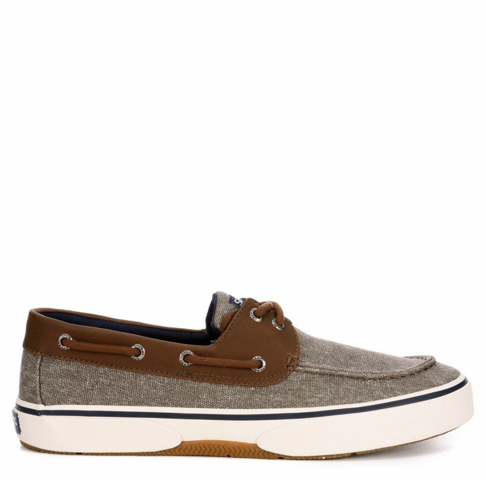 Sperry Mens Halyard 2-Eye Canvas Boat Shoes