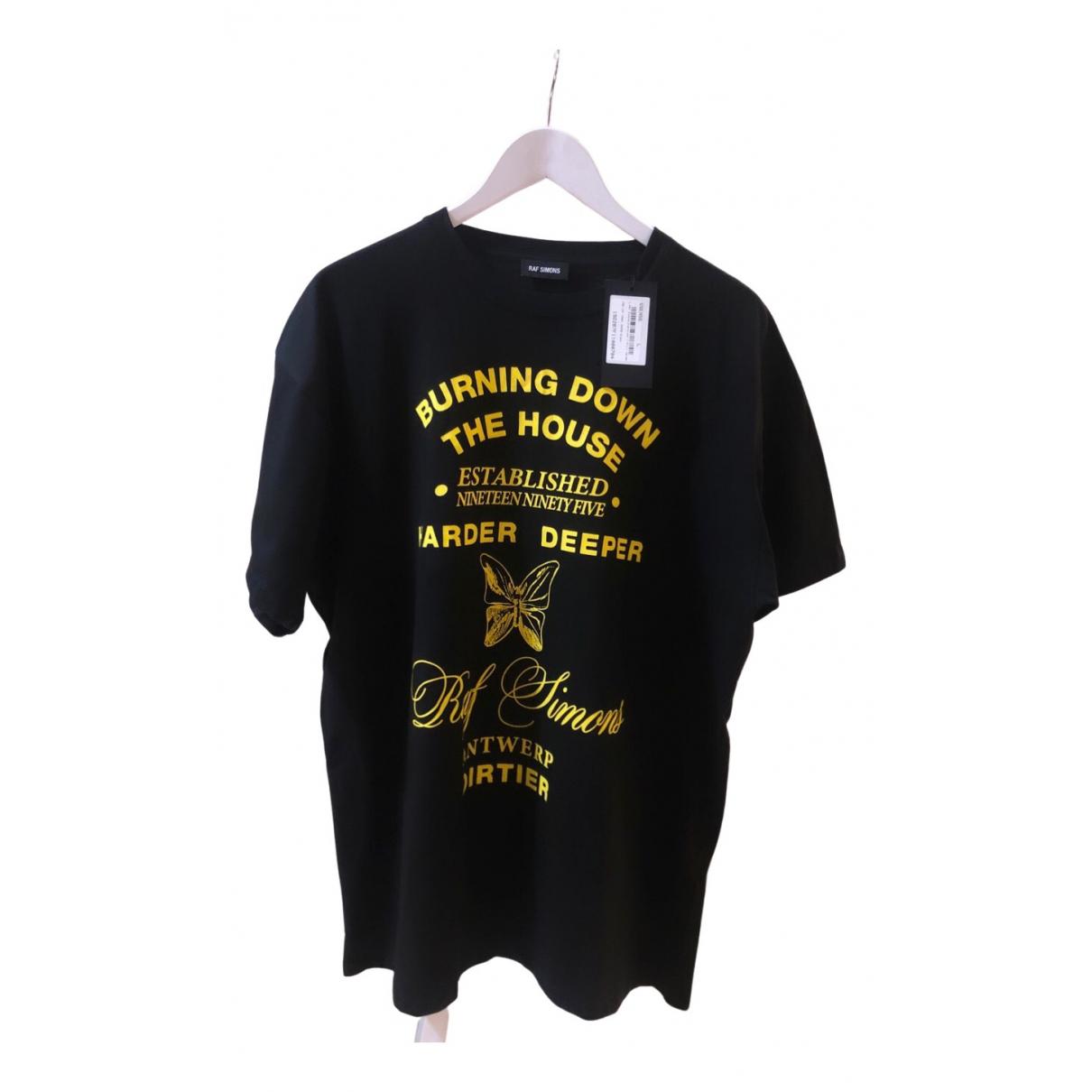 Raf Simons - Tee shirts   pour homme en coton - noir